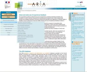Úvodní stránka databáze ARIA